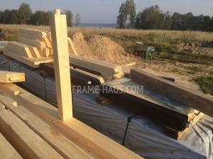 Der Bau des Hauses Fachwerkprojekt ATRIA (105-2)