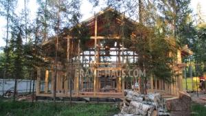 Особенности конструкции фахверкового дома