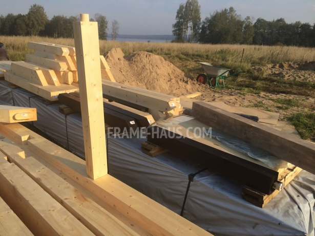 Construction of the house half-timbered project ATRIA (105-2)